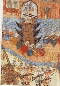 Exército de Hulagu Khan atacando Bagdá