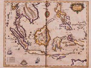 Página de um atlas prensado por Ibrahim Muteferrika