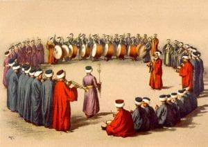 Uma banda militar mehter Otomana