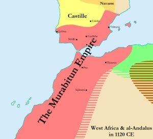 O Império Murabitun em 1.120