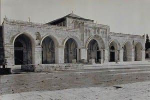 A fachada da mesquita de Aqsa
