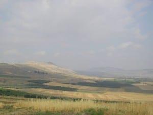 O campo de batalha de Hattin, no norte da Palestina