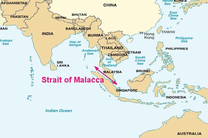 O Estreito de Malaca