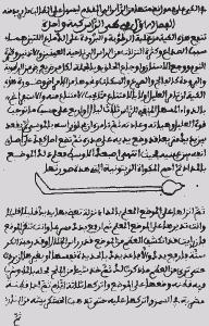 A página a partir do original al-Tasrif escrito por al-Zahrawi nos anos 900