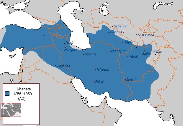 O império criado por Hulagu englobava a maioria dos muçulmanos no Sudoeste da Ásia