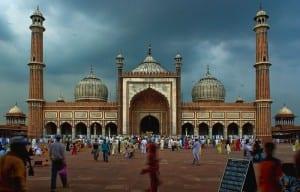 O Jama Masjid em Delhi, Índia
