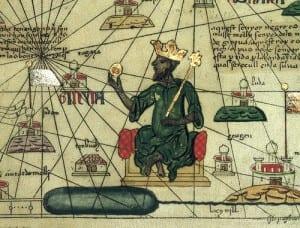 Uma descrição de Mansa Musa de um atlas europeu.
