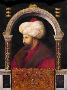 Este retrato de Mehmed II foi pintado por um cristão italiano, Gentile Bellini