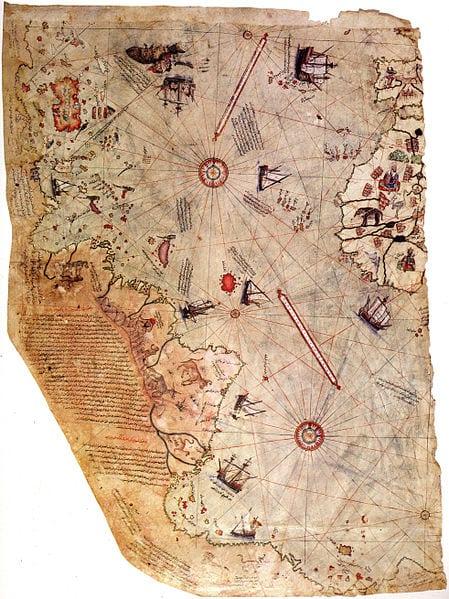 O mapa de Piri Reis de 1513