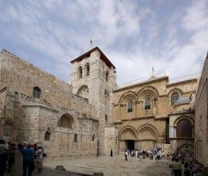 A Igreja do Santo Sepulcro, em Jerusalém, que Umar prometeu proteger quando a cidade ficou sob controle muçulmano