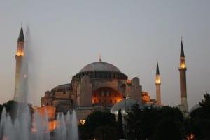 A Hagia Sophia foi a inspiração para mesquitas otomanas