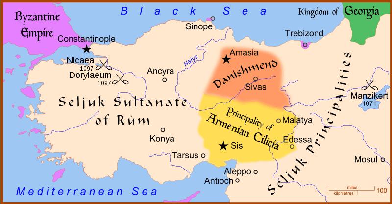 Mapa de Anatolia