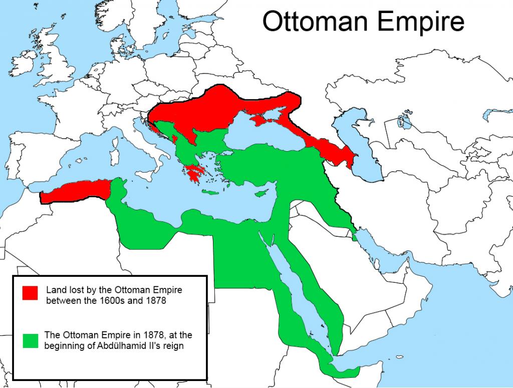 O Império Otomano em 1878