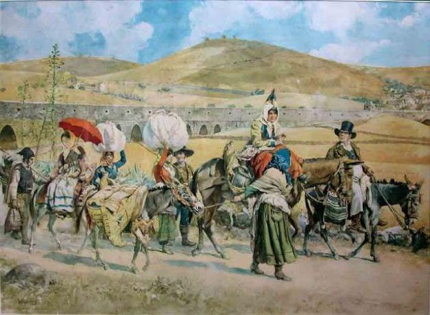 """""""Volta do Mercado Saloio"""" de Roque Gameiro . Saloio vem do Árabe Saheli, que significa """"aquele que habita no litoral"""""""
