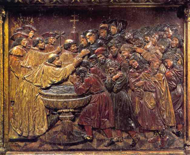 A conversão dos mouriscos. Retábulo da Capela Real de Granada