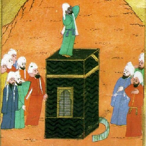 Bilal ibn Ribah no topo da Kaaba