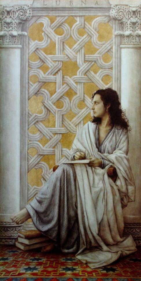 Pintura de Lubna por José Luis Muñoz