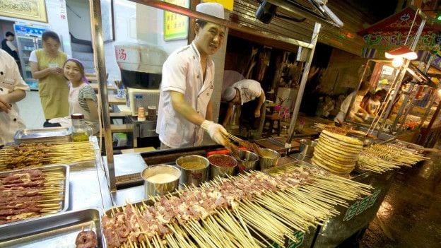 Pratos da China influenciados por árabes