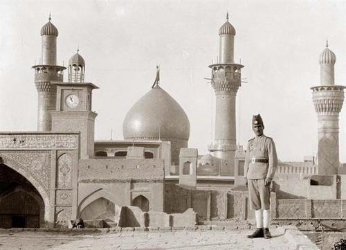 Foto do inicio do século 20 do santuário do Imam Hussein.