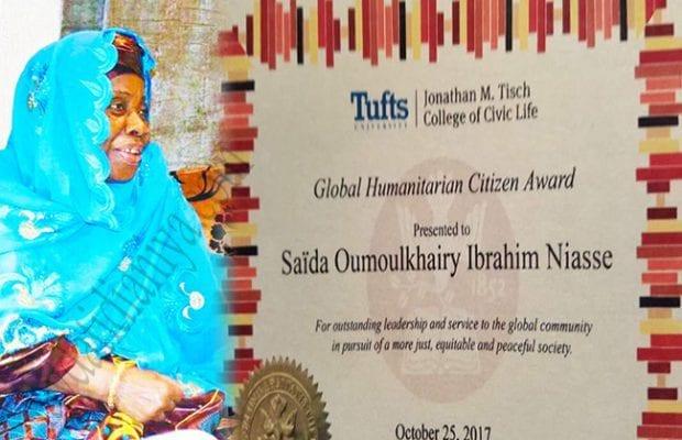 Sayda Oumoul Khayri Niasse e seu prêmio