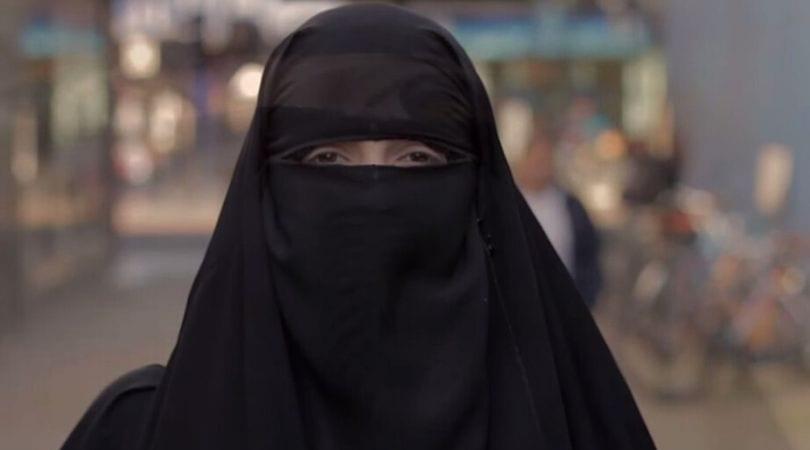 Mulher muçulmana da niqab