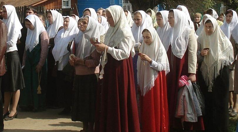 Mulheres cristãs de véu