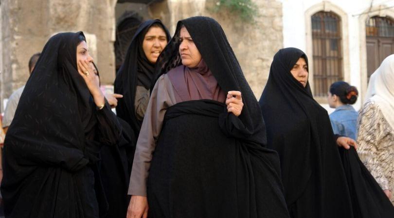 Mulheres muçulmanas de xador