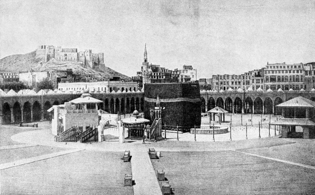 Fortaleza Ajyad ao fundo, no canto esquerdo
