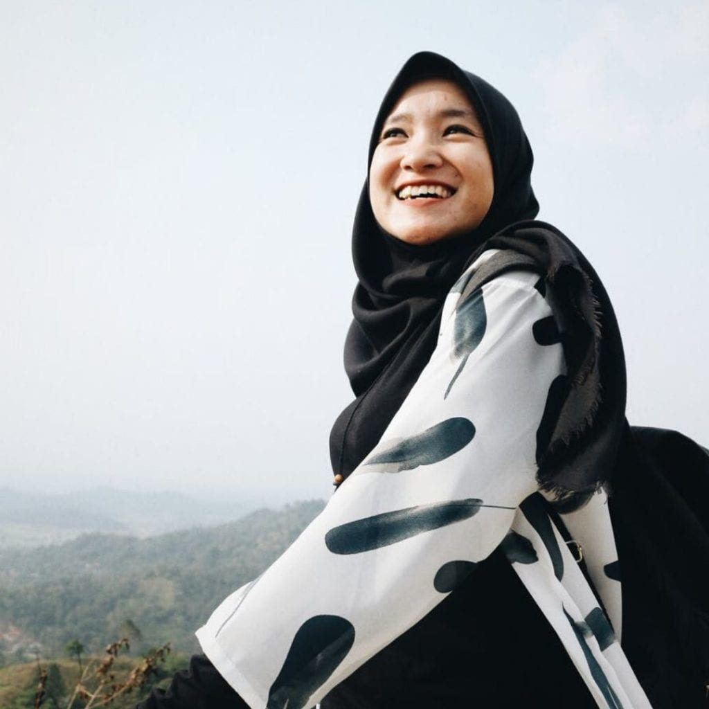 Muçulmana Sorrindo