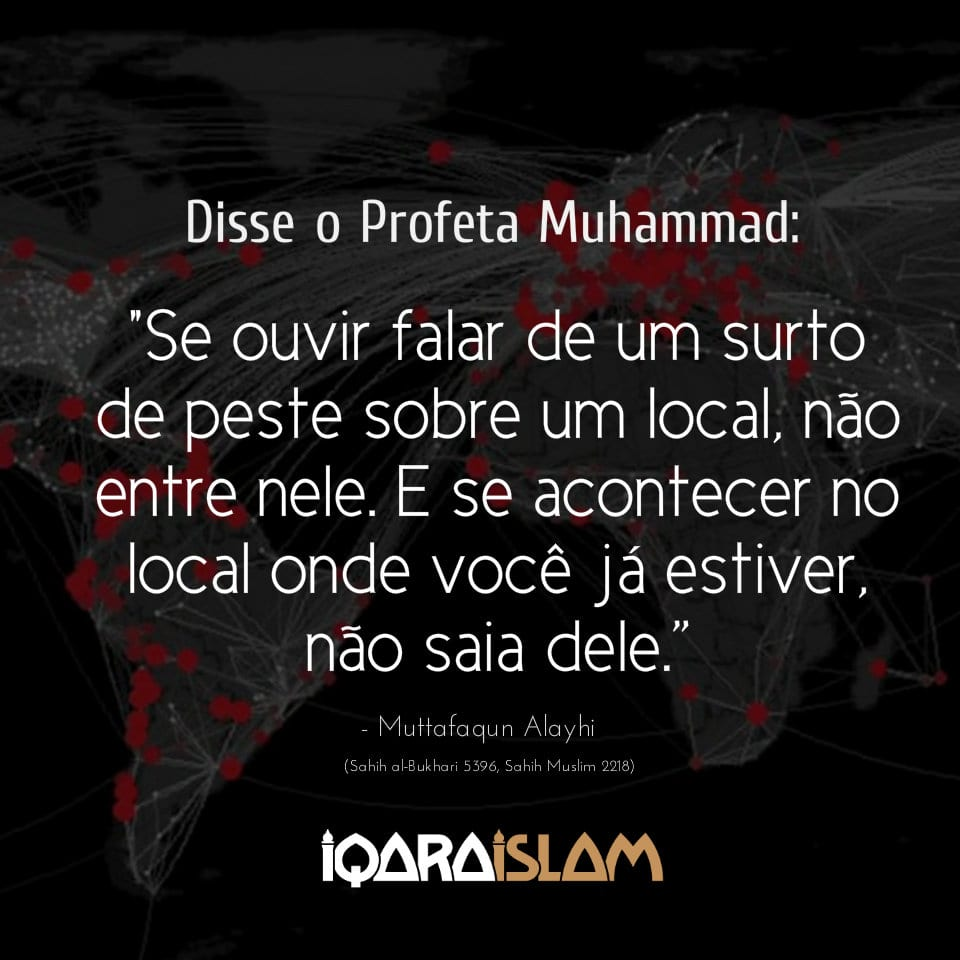 Frase do Profeta Muhammad sobre surtos