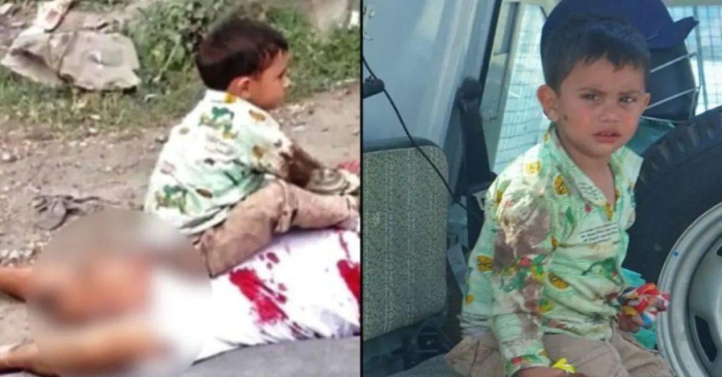 Foto que viralizou do menino na Caxemira